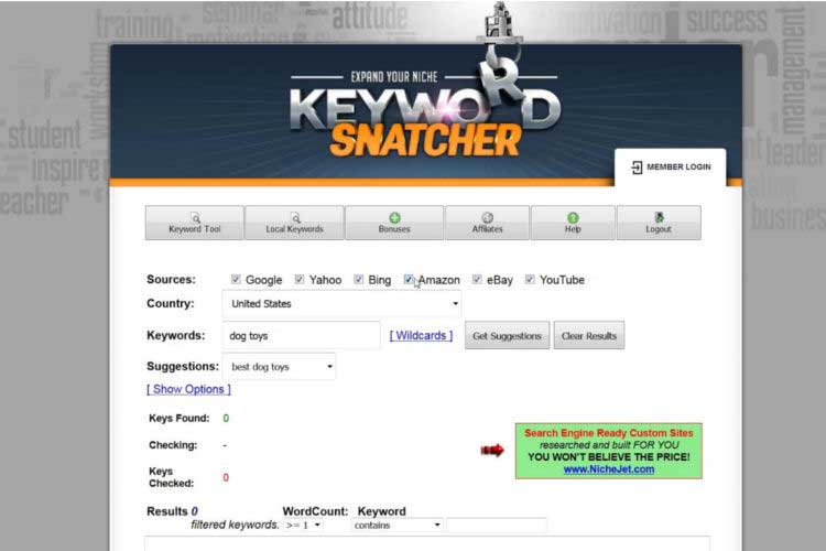Image, Keyword Snatcher Tool, Generates Thousands of Relevant Keywords - Raw Personal Training