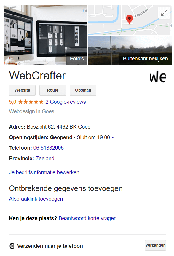 Knowledge graph voorbeeld